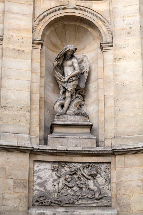 París - fuente de las cuatro estaciones imagen de archivo