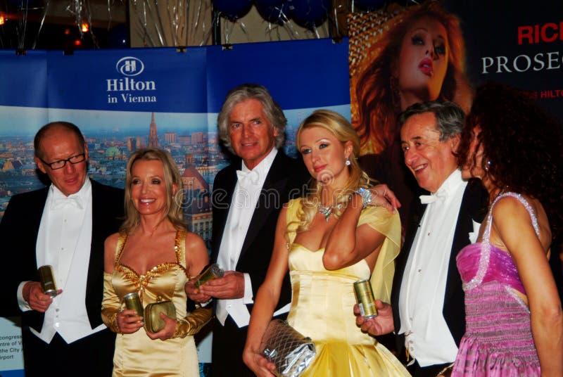 París Hilton foto de archivo