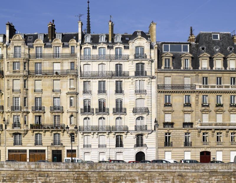 París: la fachada muy agradable del la del de del ile cita fotografía de archivo libre de regalías
