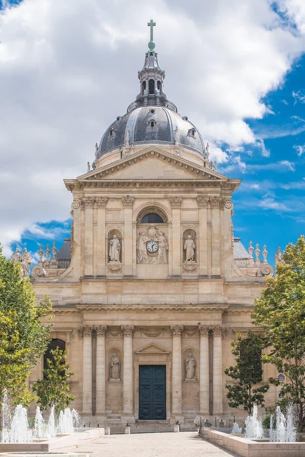 París, la universidad de Sorbonne fotos de archivo