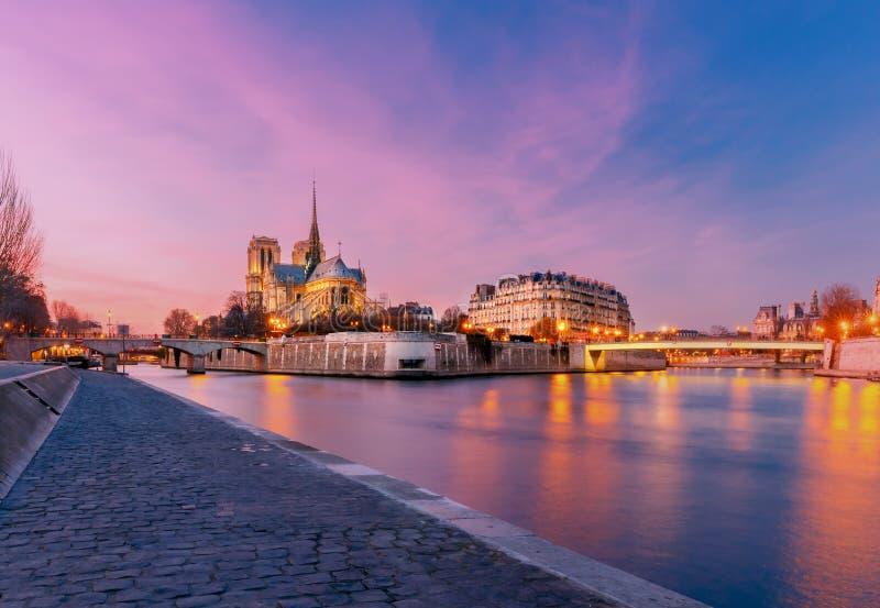 parís Notre Dame foto de archivo