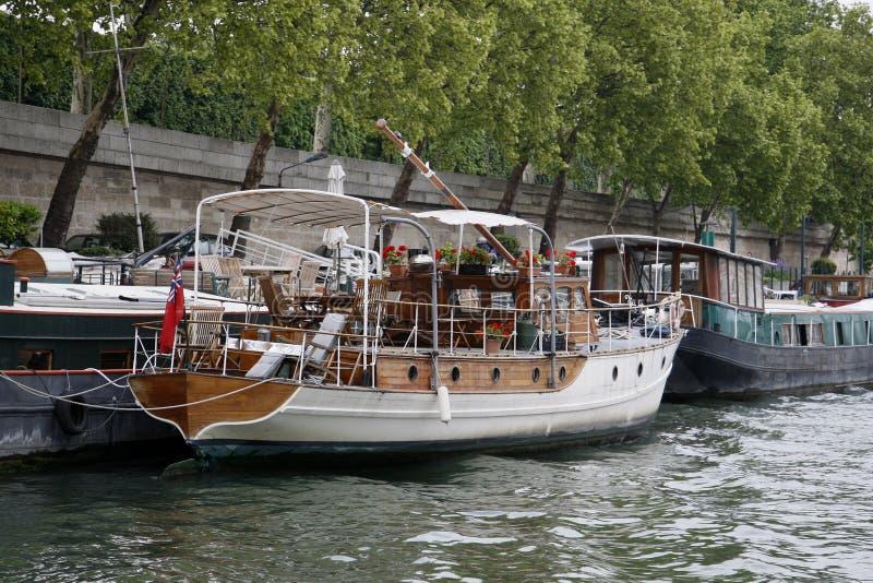 París y el río Seine imagen de archivo