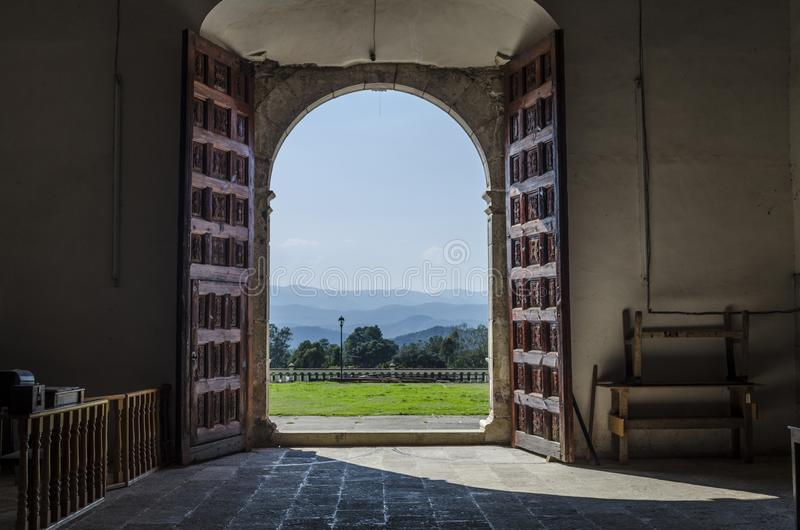 Paróquia de San Mateo Capulalpam de Méndez Oaxaca, México imagens de stock royalty free