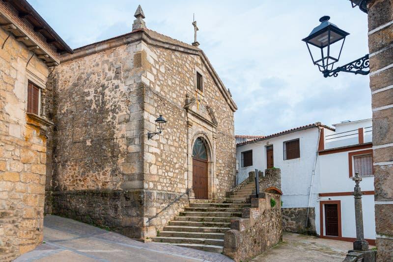 Paróquia de Santa María Magdalena em Villamiel Caceres, Spain foto de stock royalty free