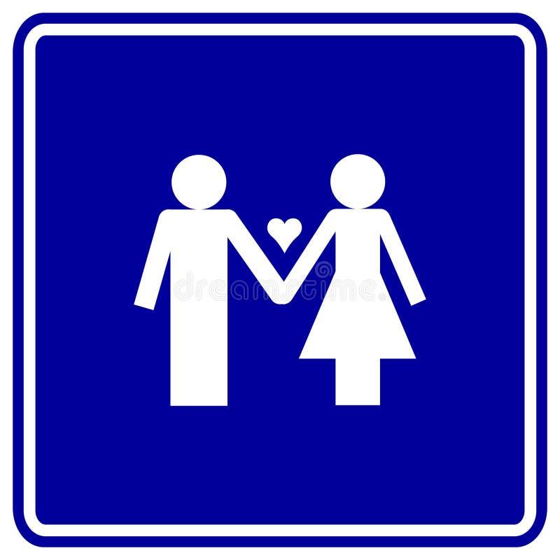 parę miłości człowiek znaku wektora kobieta serca ilustracji