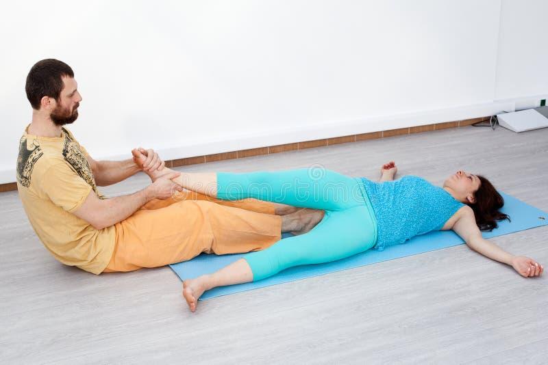 Par ćwiczenia stretching obraz royalty free