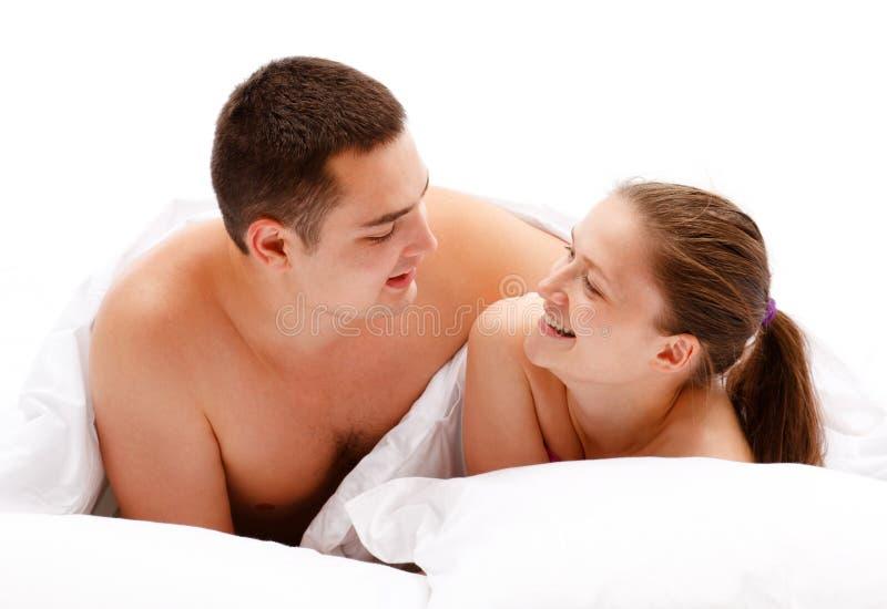 par łóżkowi potomstwa obraz royalty free