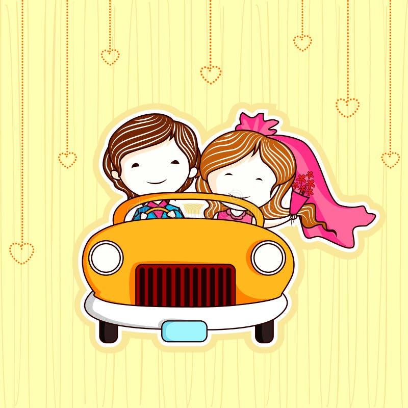 par att gifta sig bara royaltyfri illustrationer