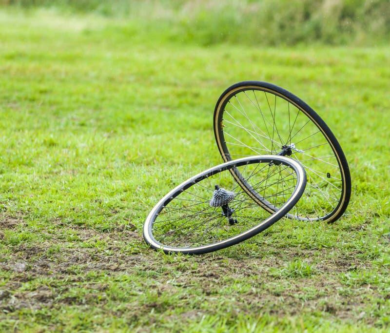 Par av att cykla hjul royaltyfri bild