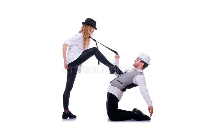 Par av att dansa för dansare royaltyfria bilder