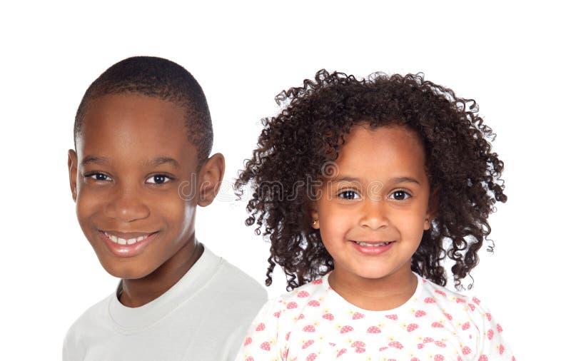 Par av barn arkivfoto
