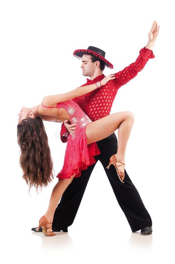 Par av dansare royaltyfri fotografi