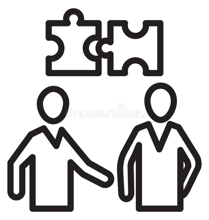 Par av figursågen, isolerad vektorsymbol för affär lösningen kan vara lätt redigerar och ändrar royaltyfri illustrationer