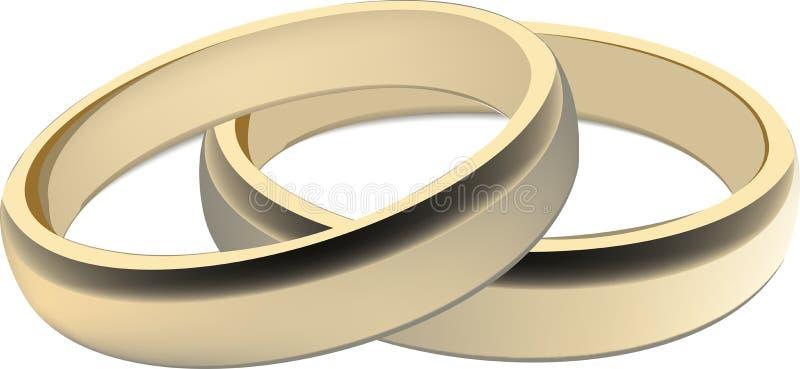 Par av guld- cirklar royaltyfri illustrationer