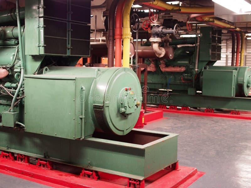 Par av nöd- diesel- generatorer fotografering för bildbyråer