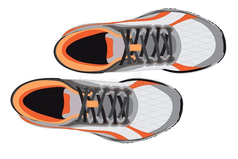 Par av springskon på bästa sikt för vit bakgrund vektor illustrationer
