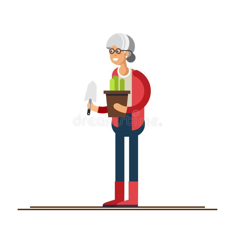 Par av trädgårdsmästare vektor illustrationer