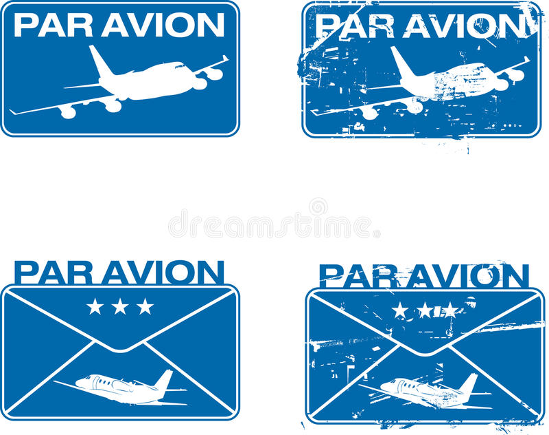 Par Avion Rubber Stamp 03 Stock Photo