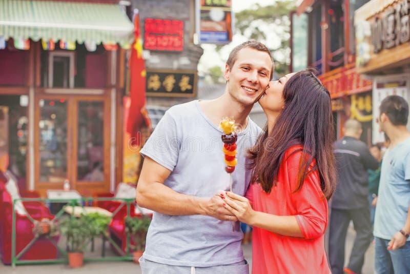 Par för blandat lopp i beijing royaltyfria bilder