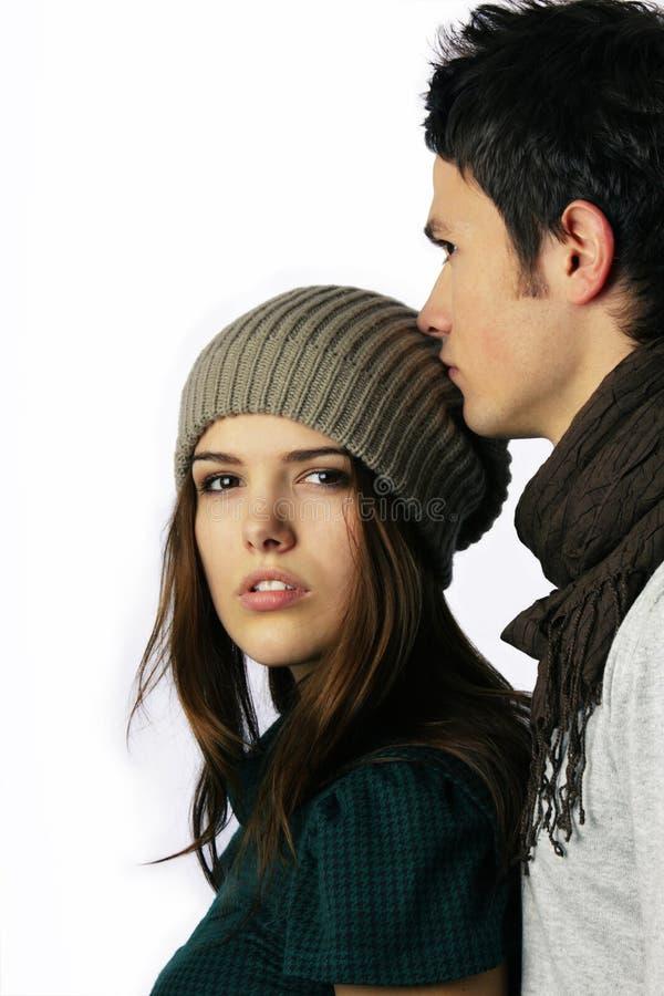 Par för modemodell som ser kameran arkivbilder