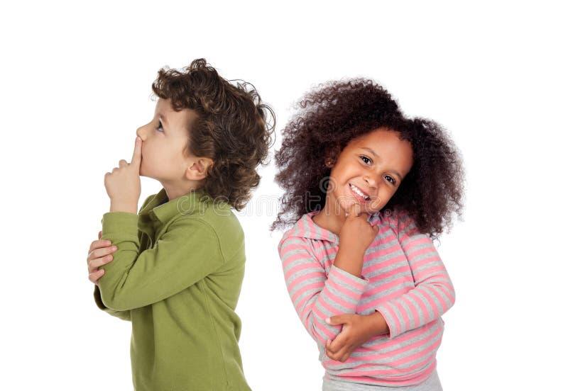 Par feliz de niños foto de archivo libre de regalías