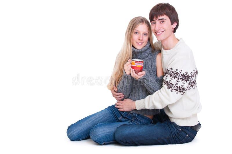 par floor lyckligt sittande barn royaltyfri bild