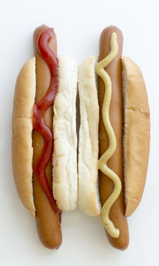 Par hot dog Zamknięty Up zdjęcia royalty free
