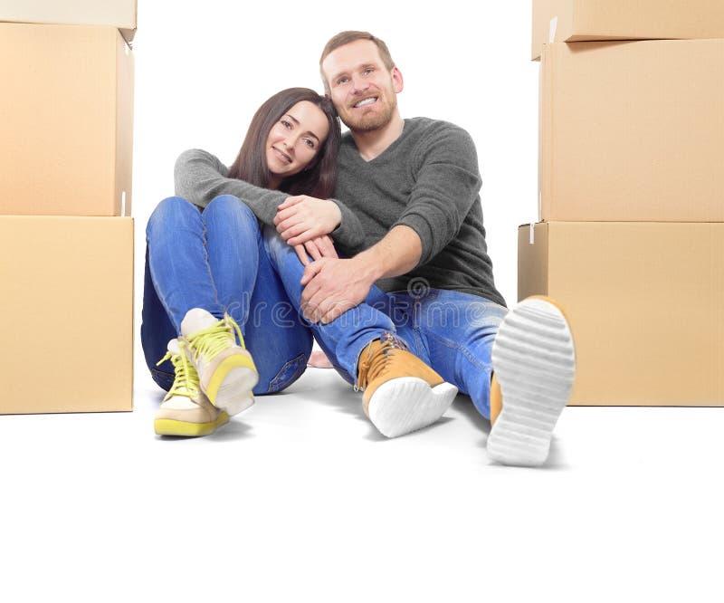 par house att flytta sig som är nytt arkivfoto
