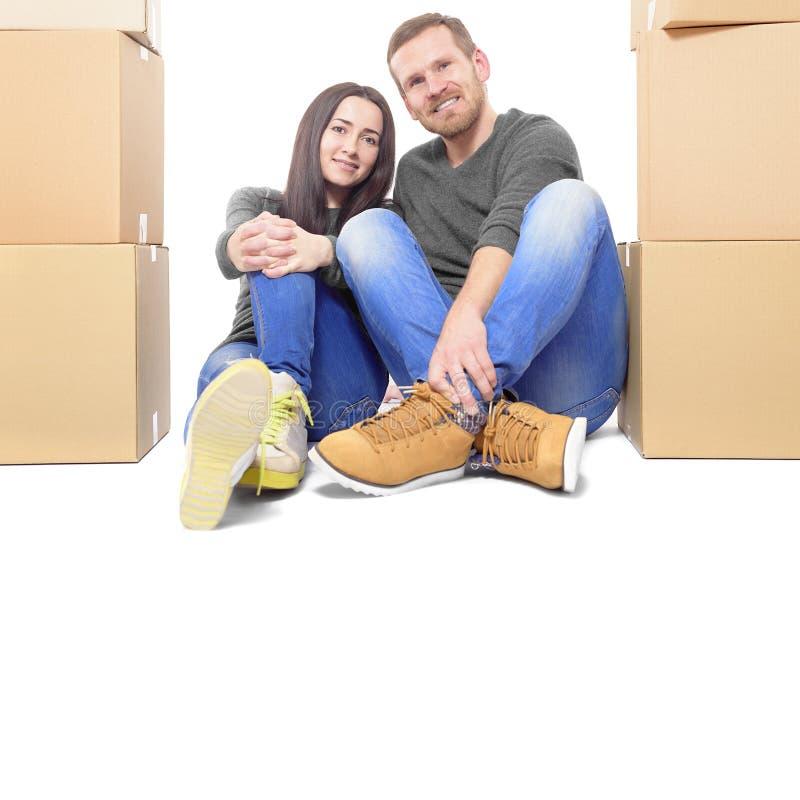 par house att flytta sig som är nytt royaltyfria bilder
