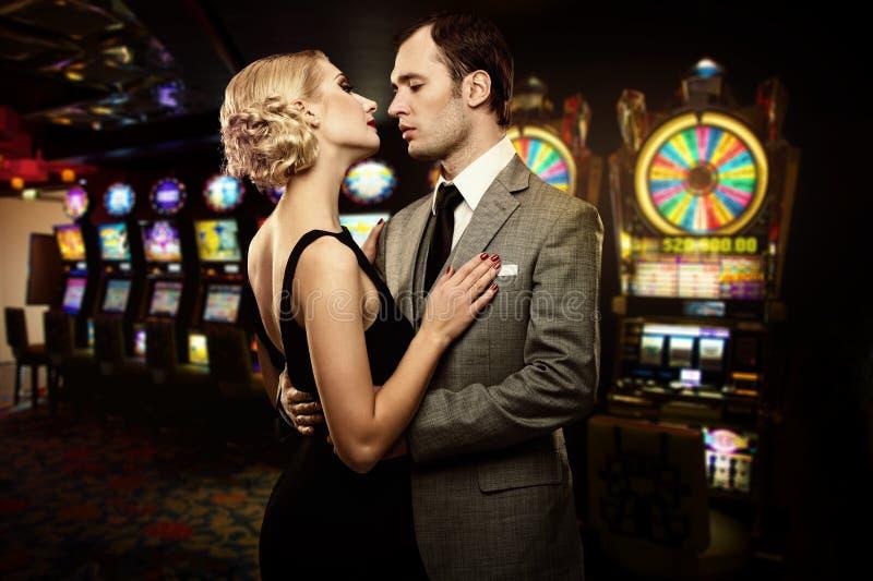 Par i kasino royaltyfria foton