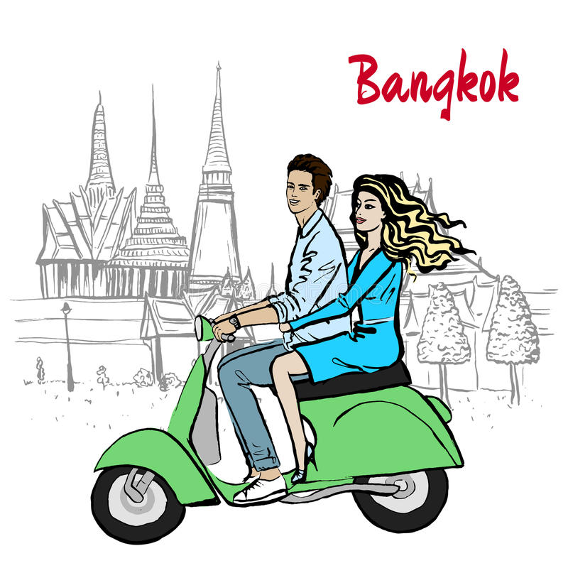 Par i Thailand vektor illustrationer