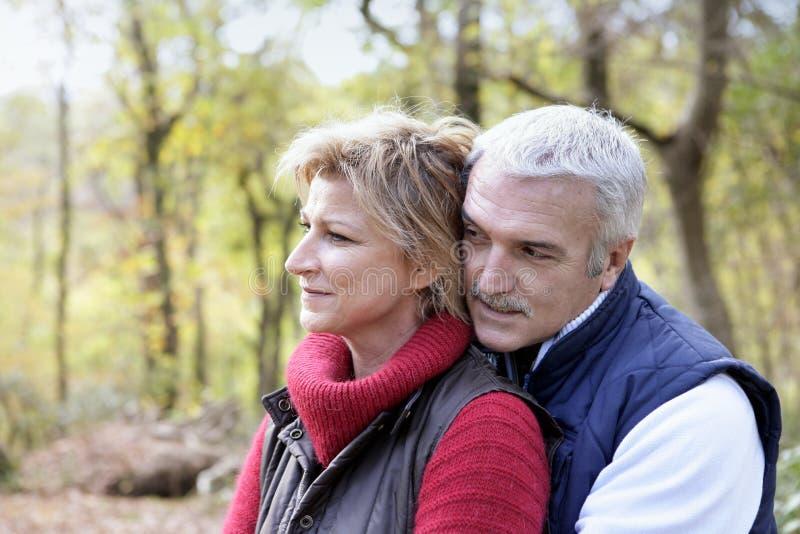 Par i träna royaltyfria bilder