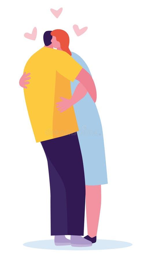 Par kramar illustrationen som isoleras p royaltyfri illustrationer