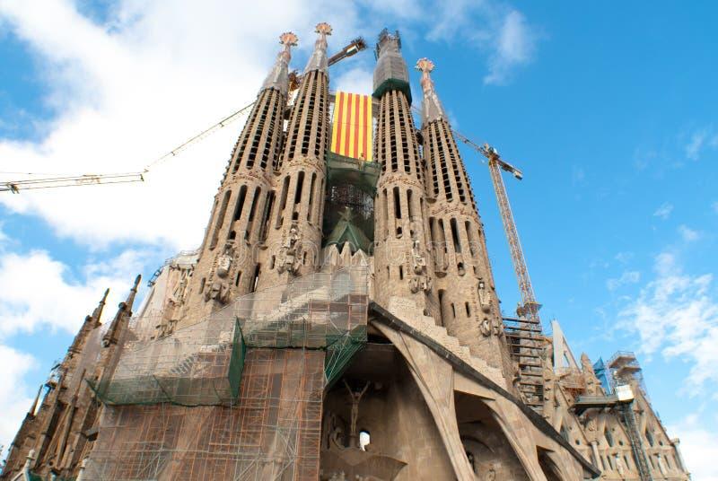 Par l'intermédiaire de Catalana photo libre de droits