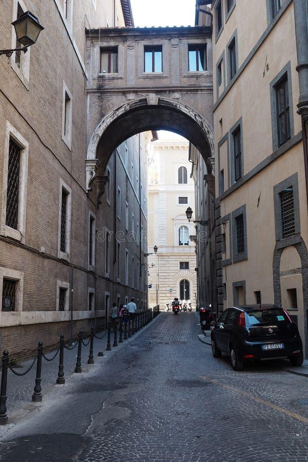Par l'intermédiaire de del Collegio Romano, Rome Italie image libre de droits