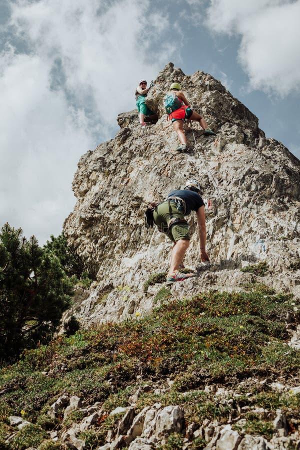 Par l'intermédiaire de Ferrata s'élevant en Autriche photo libre de droits