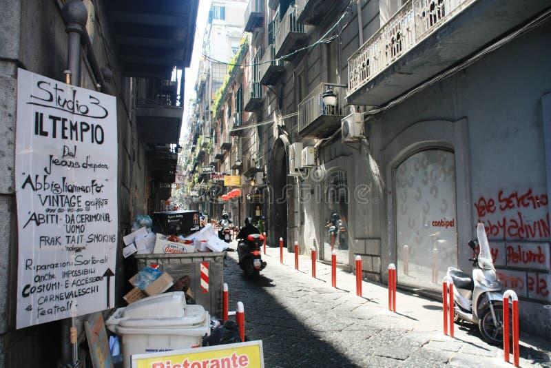 Par l'intermédiaire de la rue Napoli Italie de Nardones images libres de droits