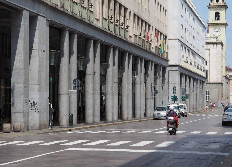 Par l'intermédiaire de Roma à Turin photos stock