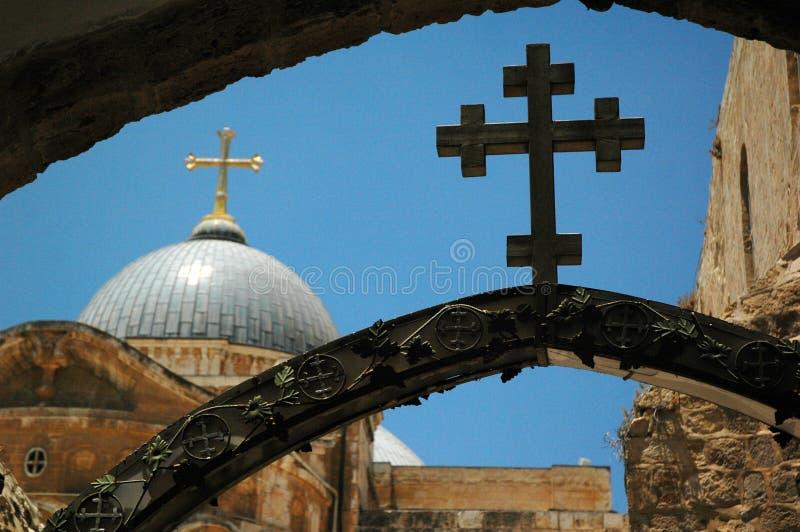 Par l'intermédiaire des croix de Dolorosa images libres de droits
