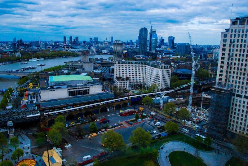 Par l'oeil du ` s de Londres photos stock