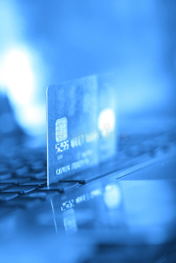 Par la carte de crédit photo libre de droits