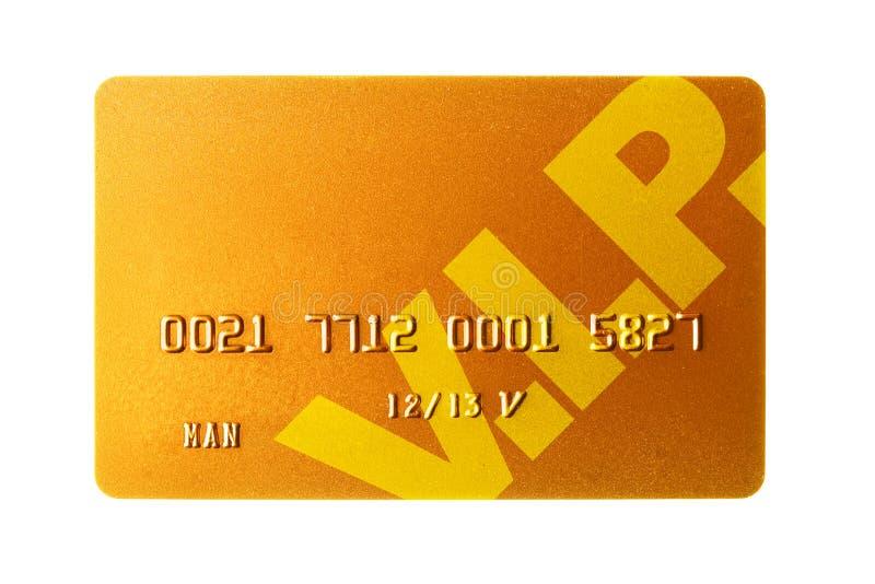 Or par la carte de crédit photographie stock