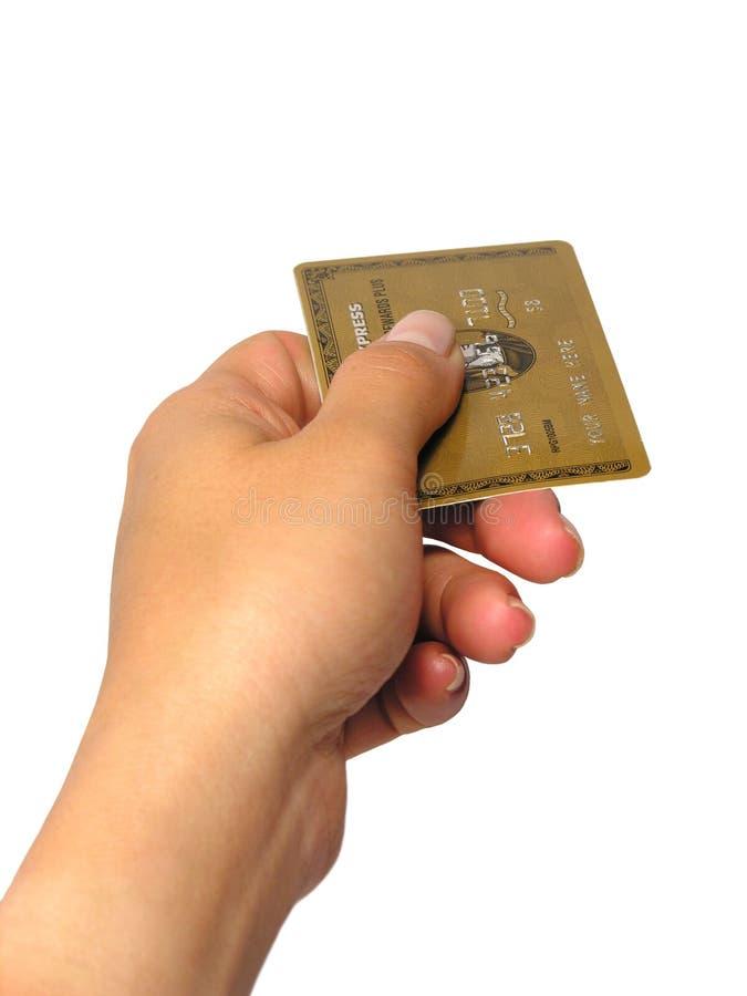 Par la carte de crédit (article truqué) image libre de droits