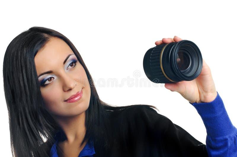 Par la lentille photos stock