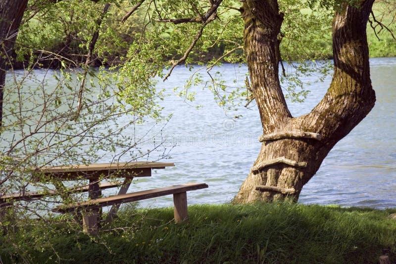 Par le fleuve image libre de droits