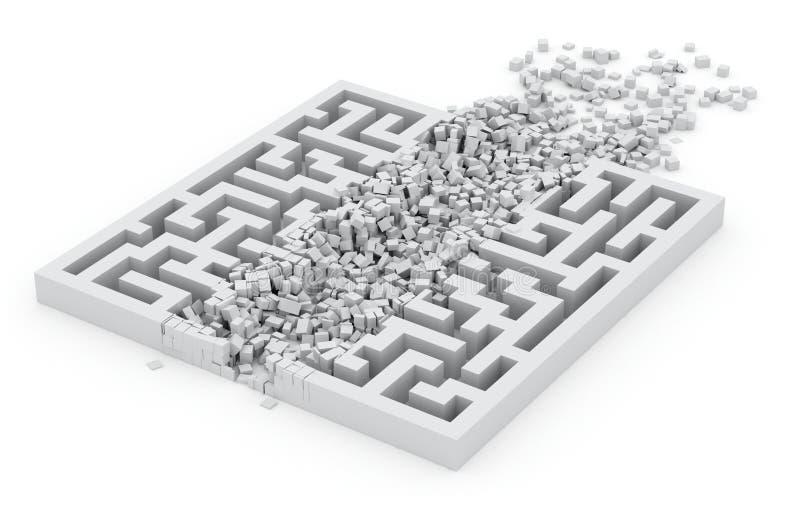 Par le labyrinthe, concept de voie neuve illustration de vecteur