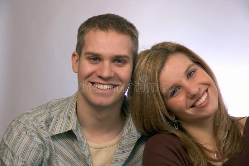 par młodych zdjęcie stock