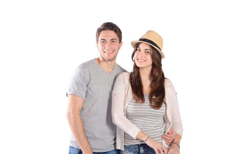 Par på en tur royaltyfria foton