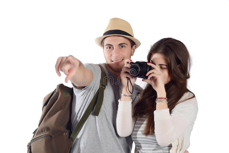 Par på en tur royaltyfri bild
