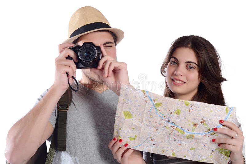 Par på en tur arkivbild